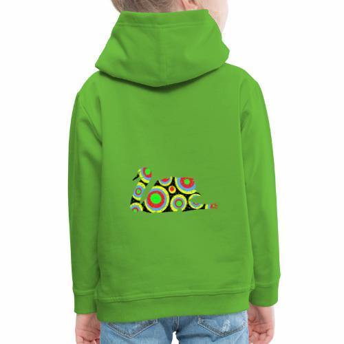 Bunter Schwan mit vielen tollen Farben - Kinder Premium Hoodie