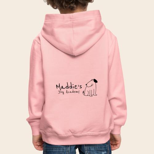 Académie des chiens de Maddie (noir) - Pull à capuche Premium Enfant