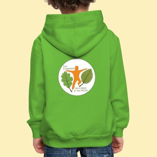 Logo des Chemins du Chêne et du Hêtre - Pull à capuche Premium Enfant