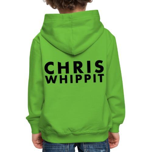 ChrisWhippit Black Text - Premium-Luvtröja barn