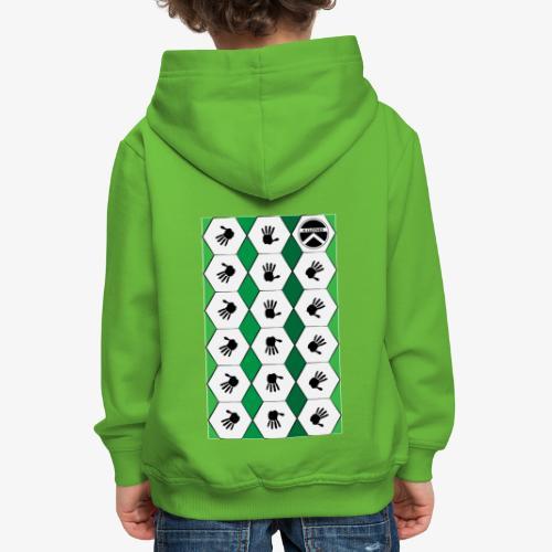 |K·CLOTHES| HEXAGON ESSENCE GREENS & WHITE - Sudadera con capucha premium niño