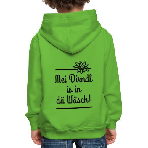 Mei Dirndl is in dä Wäsch! - Kinder Premium Hoodie