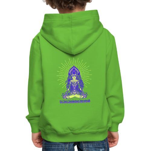 Yogafashion Hippie Ganesha dein Glücksgott - Kinder Premium Hoodie