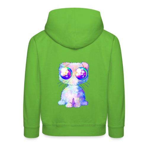 krullhårigt kawaii husdjur med regnbågsfärger - Kids' Premium Hoodie