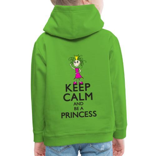 Keep calm an be a princess - Kinder Premium Hoodie