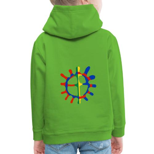 Samisk sol - Premium Barne-hettegenser
