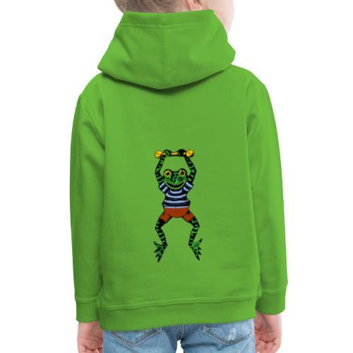 Rana acróbata - Sudadera con capucha premium niño
