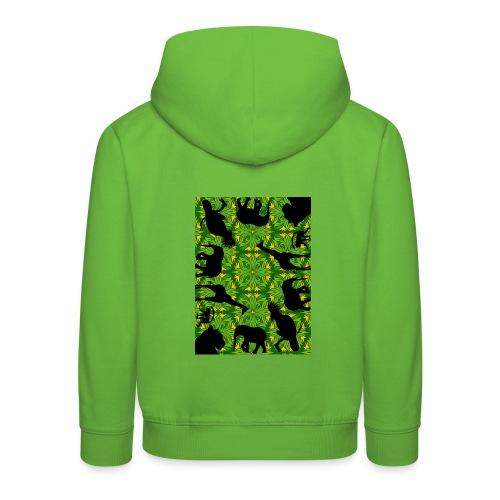 Im Dschungel - Retrolook - Kinder Premium Hoodie