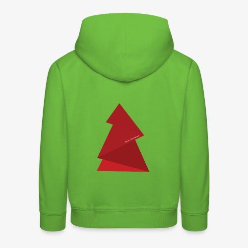 red triangles fir - Kids' Premium Hoodie