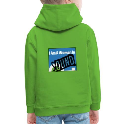 woman in sound - blue - Kids' Premium Hoodie