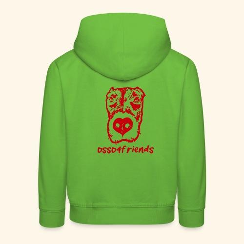 Logo ROSSO TRASPARENTE creative - Felpa con cappuccio Premium per bambini