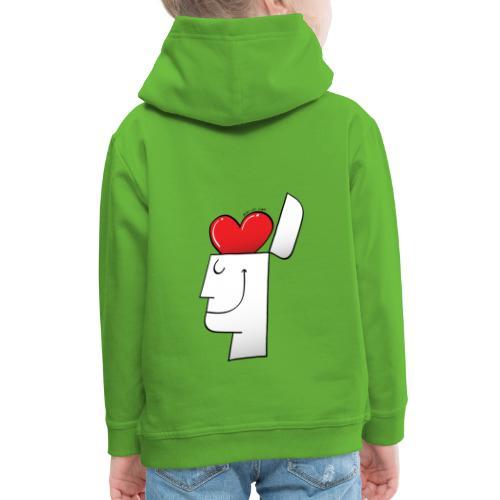 A Heart in my Head - Kids' Premium Hoodie