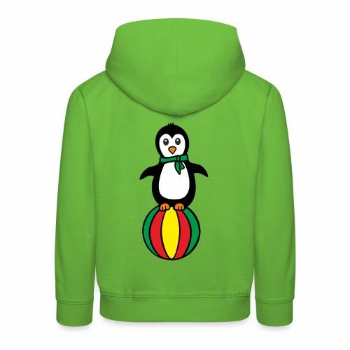 Pinguin auf einem Ball - Kinder Premium Hoodie