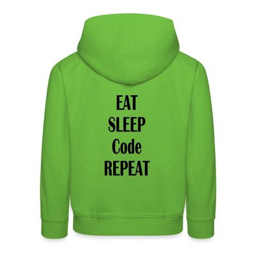 EAT SLEEP CODE REPEAT - Kinder Premium Hoodie