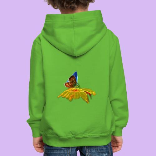 Farfalla su corolla - Felpa con cappuccio Premium per bambini