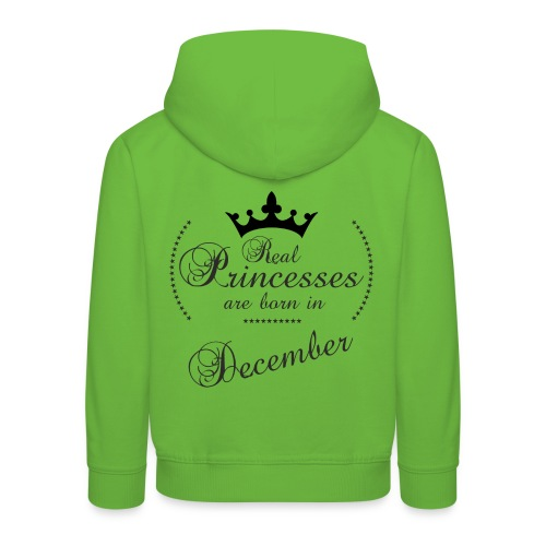 Real Princesses black December - Kinder Premium Hoodie