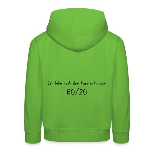 Pareto Prinzip - Kinder Premium Hoodie