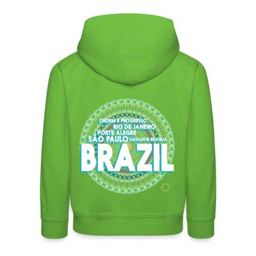 Lemon Brazil Mandala - Pull à capuche Premium Enfant
