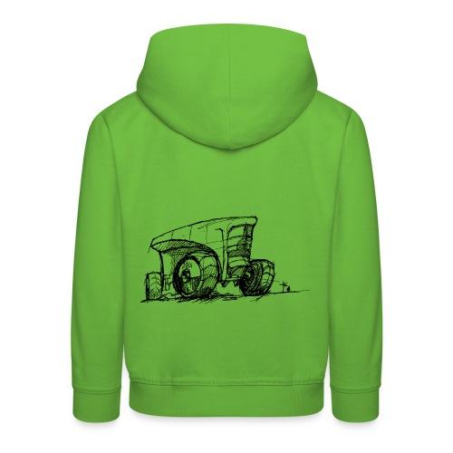 Futuristic design tractor - Kids' Premium Hoodie