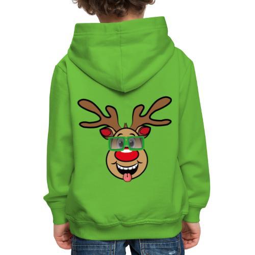 Weihnachten Rudi mit Brille - Kinder Premium Hoodie