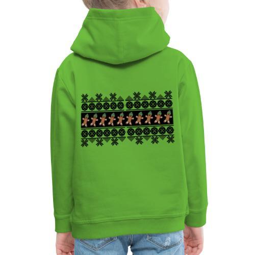 Lebkuchen Männchen für hässliche Weihnachten - Kinder Premium Hoodie