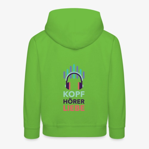 kopfhoererliebe bunt - Kinder Premium Hoodie