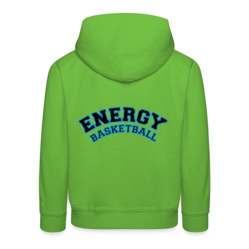 baby energy basketball logo nero - Felpa con cappuccio Premium per bambini