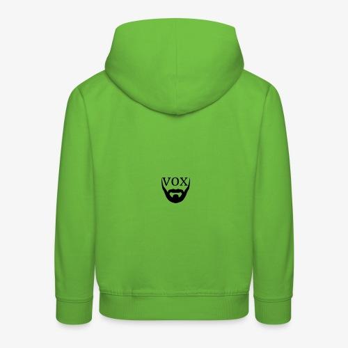 Logo Vox Nero - Felpa con cappuccio Premium per bambini