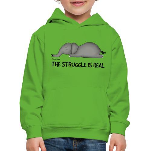 Amy's 'Struggle' design (black txt) - Kids' Premium Hoodie