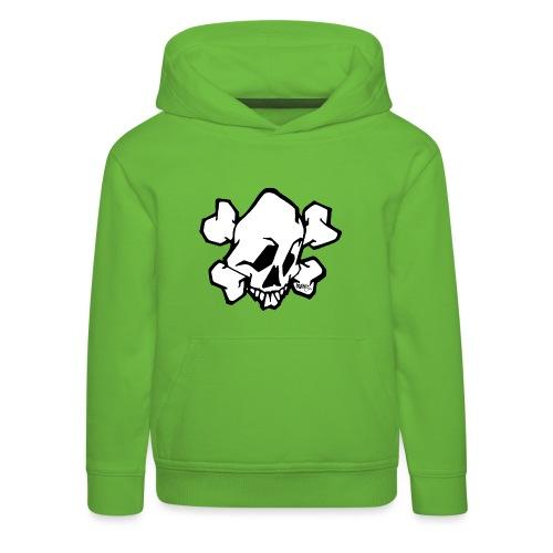 Graffiti Skull - Premium hættetrøje til børn