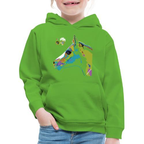 Spotted.Horse Appaloosa Colt Pop Art - Felpa con cappuccio Premium per bambini