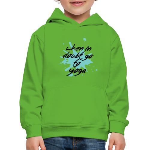vai allo yoga blue yogi hippie namaste peace love art - Felpa con cappuccio Premium per bambini