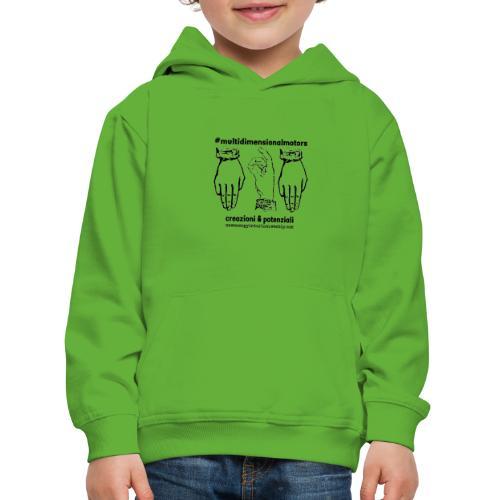 logo #MultiDimensionalMotors con segni mano - Felpa con cappuccio Premium per bambini