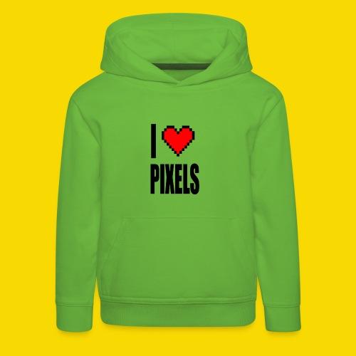 I Love Pixels - Bluza dziecięca z kapturem Premium