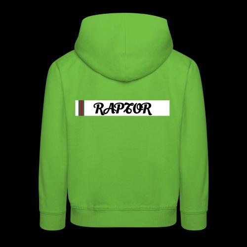 Raptor Sleeve white backround - Kids' Premium Hoodie