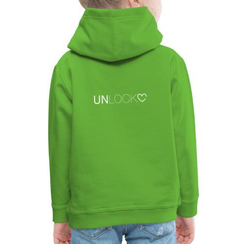 Unlock - Felpa con cappuccio Premium per bambini