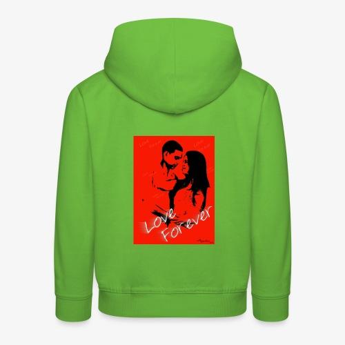 amor por siempre - Sudadera con capucha premium niño