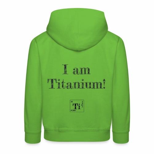 titanium - Premium hættetrøje til børn