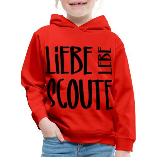 Liebe Lebe Scoute Typo - Farbe frei wählbar - Kinder Premium Hoodie