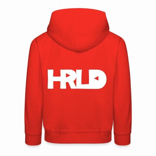 HRLD White Logo - Lasten premium huppari