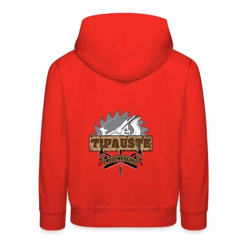 Logo Tipauste WoodWorking #1 - Pull à capuche Premium Enfant