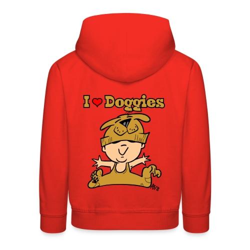 baby i love doggies color - Kinderen trui Premium met capuchon
