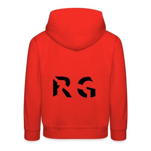 RG Zwart logo - Kinderen trui Premium met capuchon