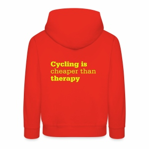 Cycling is therapy - Kinder Premium Hoodie