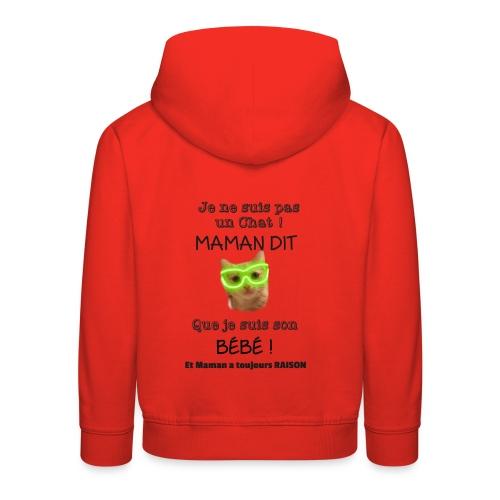 O'Malley le Bébé ! - Pull à capuche Premium Enfant