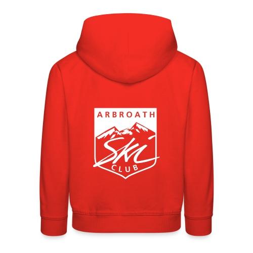 Arbroath Ski Club Logo White - Kids' Premium Hoodie