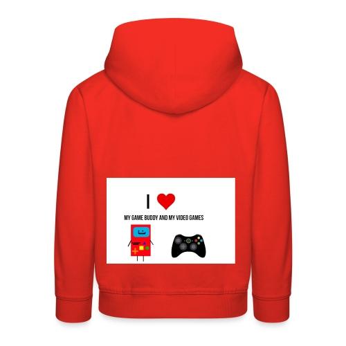 i love my game buddy and my video games - Kids' Premium Hoodie