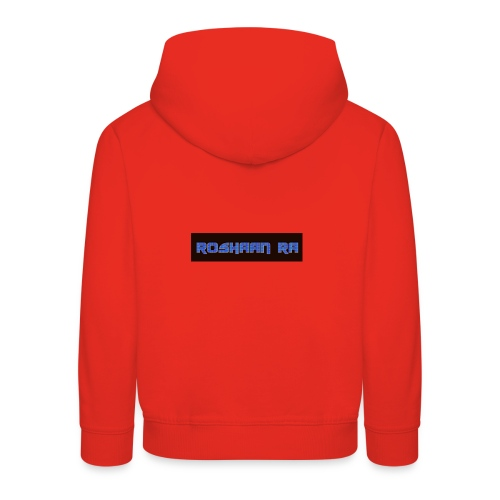 Blue RoshaanRa Logo Kids Merch - Kids' Premium Hoodie