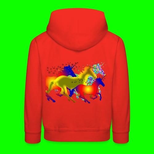 unicorn horses - Premium-Luvtröja barn