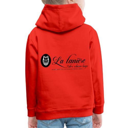 La Tanière des Chiens-Loups(logo plus grand) - Pull à capuche Premium Enfant